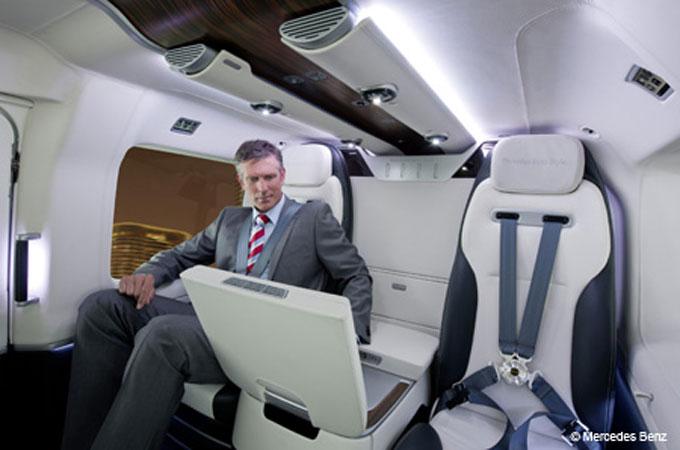 Eurocopter EC 145 Mercedes-Benz style theocopter interior