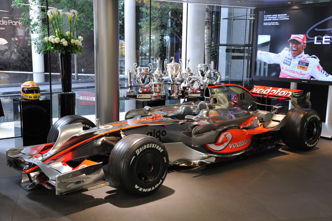 McLaren Knightsbridge London showroom F1 car
