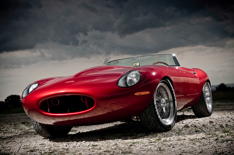 Eagle Speedster Jaguar E-Type replica front