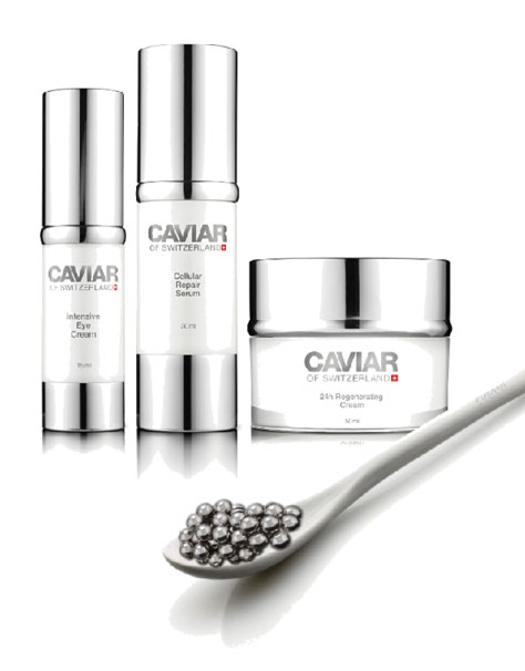 Caviar enriched Skin-care from Switzerland