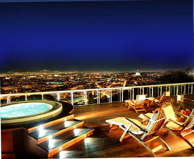 rome cavalieri penthouse terrace