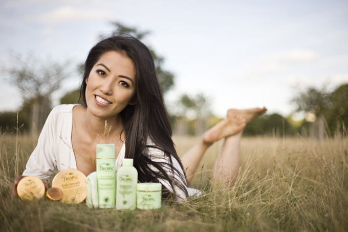 New Susan Ma photo shoot with Tropic Skincare range 2