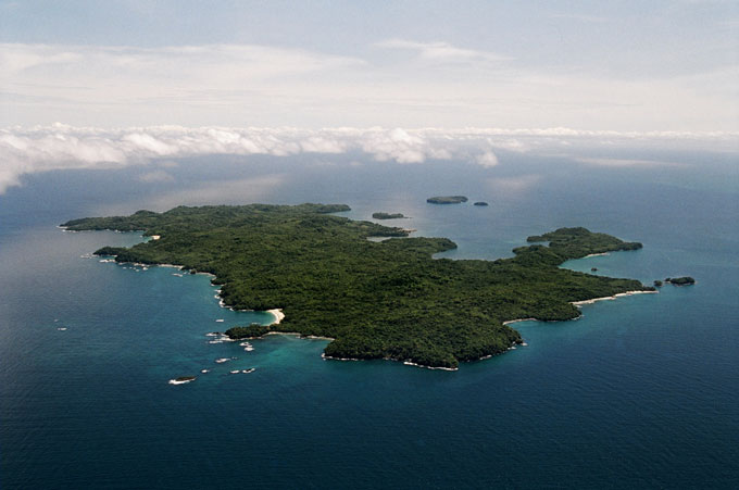 Tropical Gulf of Panama's 'Pearl Island'