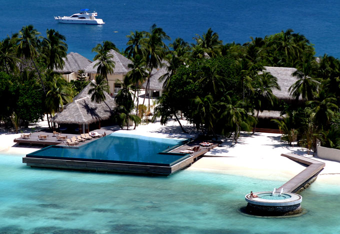 Huvafen Fushi Maldives ariel