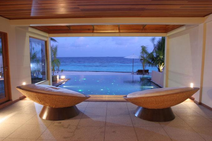 Huvafen Fushi Maldives view