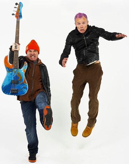 damien hirst and flea red hot chilli peppers bass guitar
