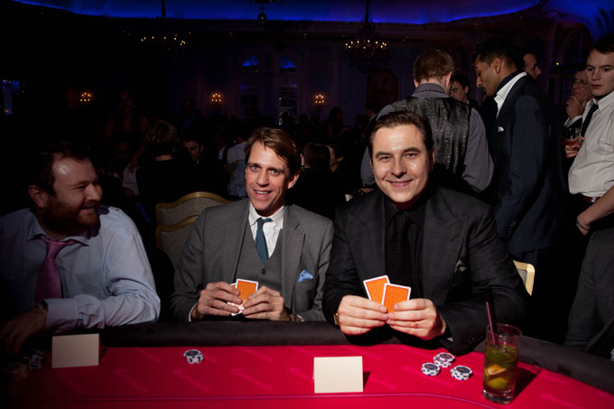 quintessentially foundation savoy hotel poker evening ben elliot chairman and cofounder of quintessentially and comedian david walliams
