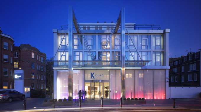 K-West Hotel and Spa Shepherds Bush front entrance exterior image