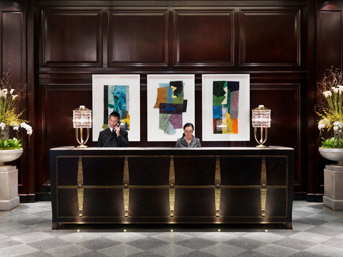 Rosewood Hotel Georgia Vancouver Front Desk artwork