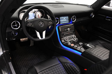 brabus mercedes benz sls amg roadster interior photo