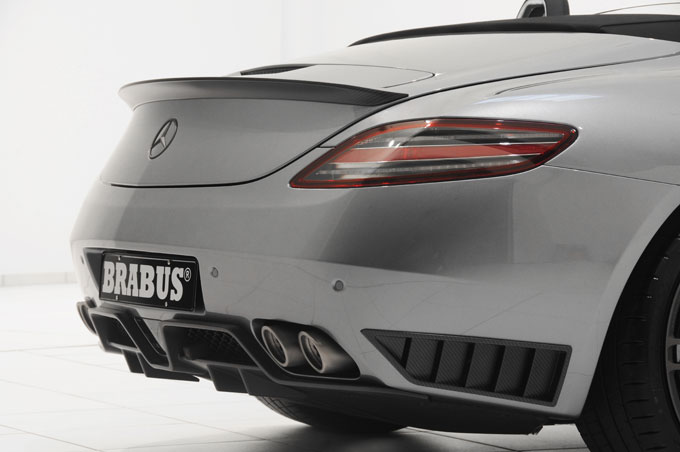 brabus mercedes benz sls amg roadster rear end photo