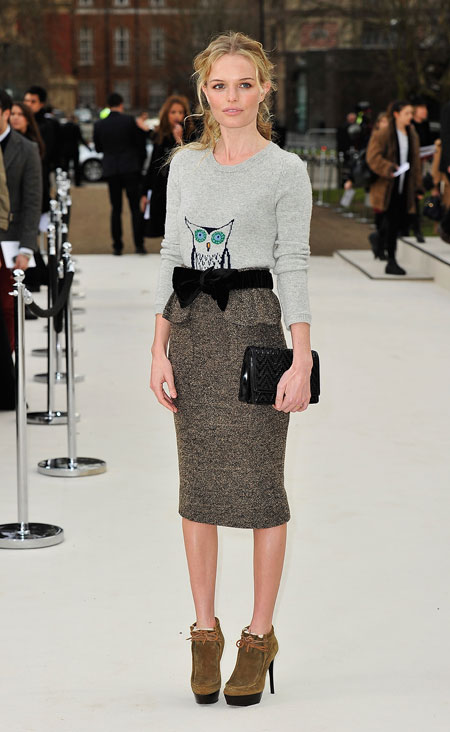 Kate Bosworth wearing Burberry at the Burberry Prorsum Autumn Winter 2012 Womenswear Show