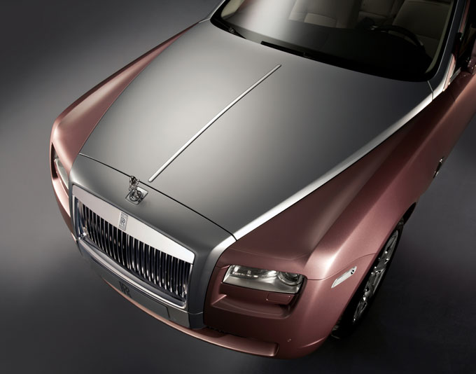 Rolls Royce Ghost bespoke personalisation stainless bonnet