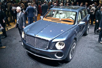 Geneva Motor Show 2012 Bentley SUV first glimpse