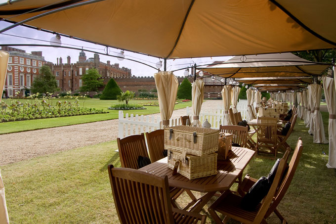 Hampton Court Palace Festival 2012 Jamie Oliver picnic and CDC member hospitality packages
