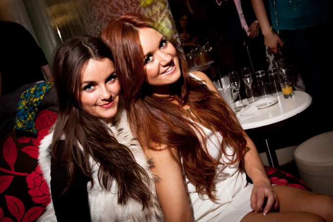 SceneCheck girls at The Roof Gardens Kensington 23/3/12