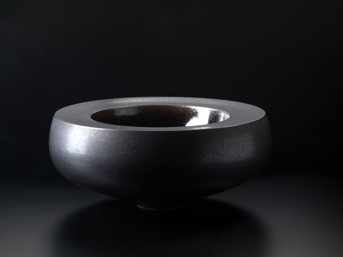Thomas Bohle Vessel-15 Stoneware with Temmoku glaze