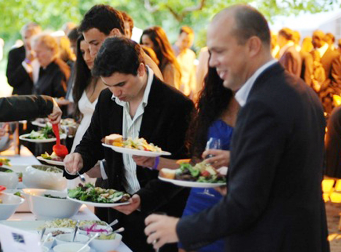 Concours D'Elegance People Eating Image