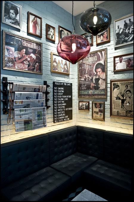 Dishoom Bombay Cafe interior Covent Garden
