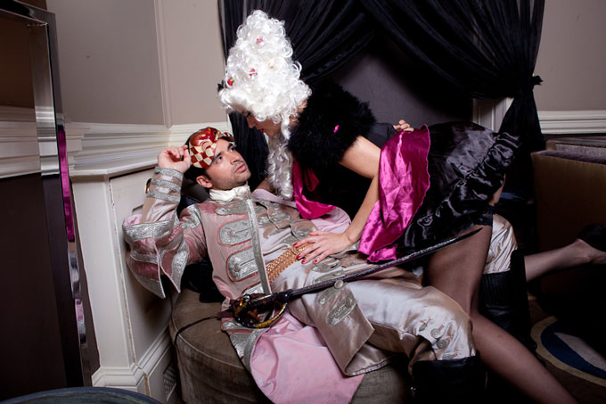 Holdup Heroines Circus of Seduction by Paul Soso at Home House London Sunday 8 April 2012