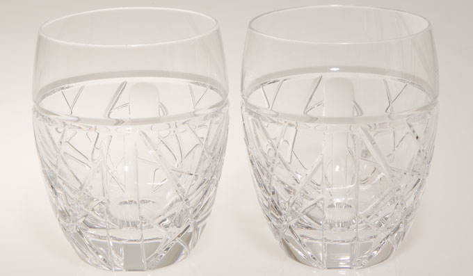 London 2012 Olympics Paralympics London GB waterford crystal tumbler pair