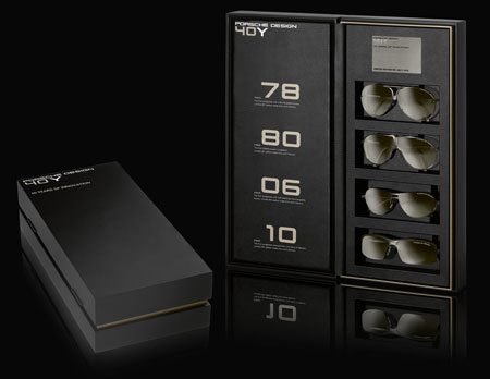 Porsche Design 40Y of innovation sunglasses collectors box