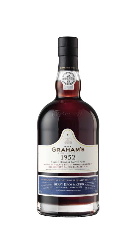 Celebrate the Jubilee in style with a bottle of Premium Grahams 1952 Port from Berry Bros &amp; Rudd