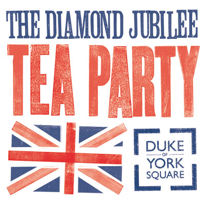 Diamond Jubilee Royal Tea Party London 2012 banner