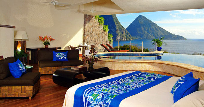 Jade Mountain Resort Villa with pool St Lucia Caribbean