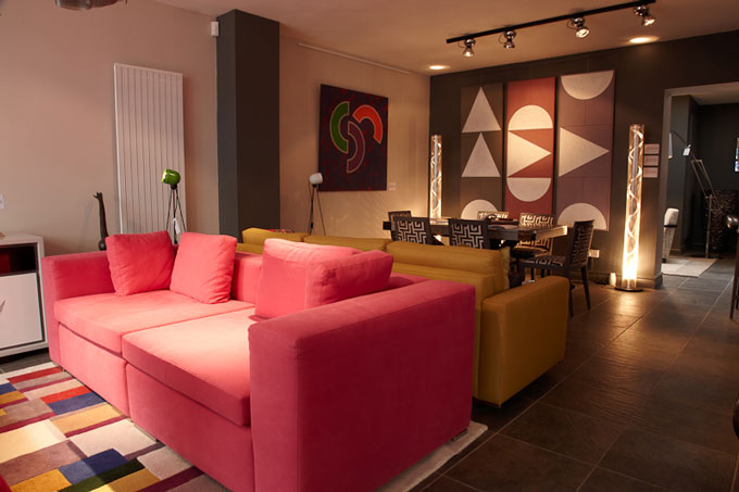 Muralto Media Lounge open plan living space