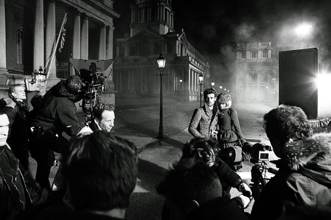 Behind the scenes at the Burberry Autumn Winter 2012 Campaign