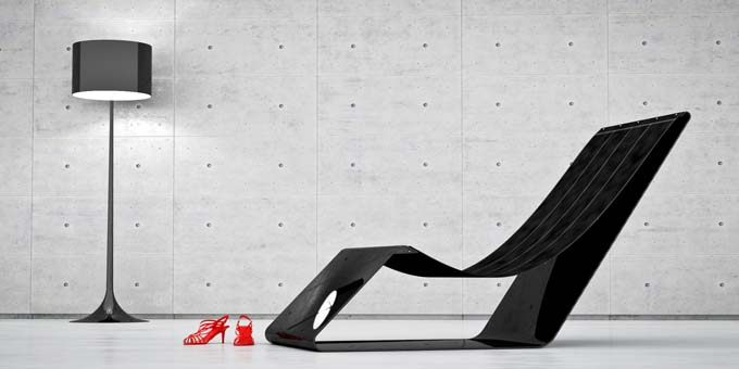 Jules Sturgess bespoke carbon fibre furniture defies the laws of physics
