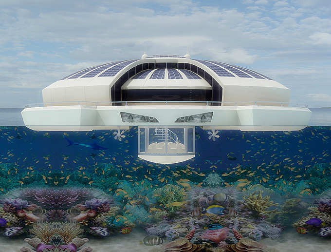 The Solar Floating Resort; with global warming comes genius architecture
