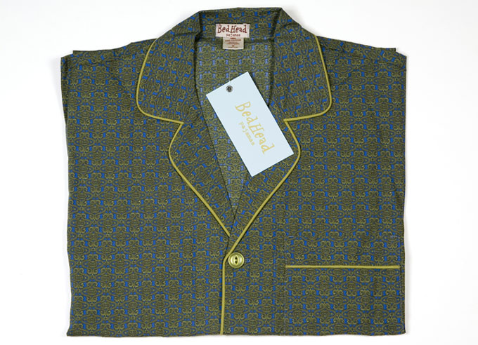 Bedhead Men's Olive Insignia Pyjamas image