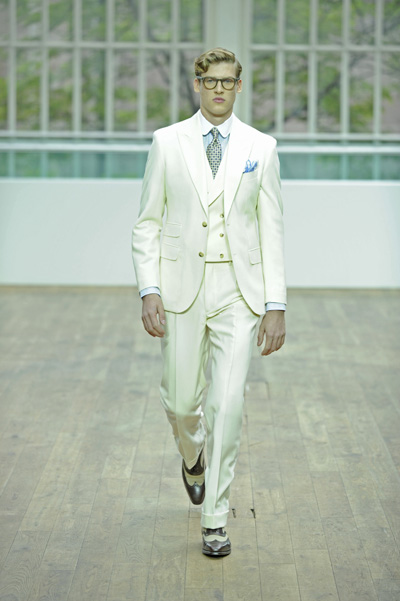 British brand Hackett London make their catwalk debut at London Collections: Men