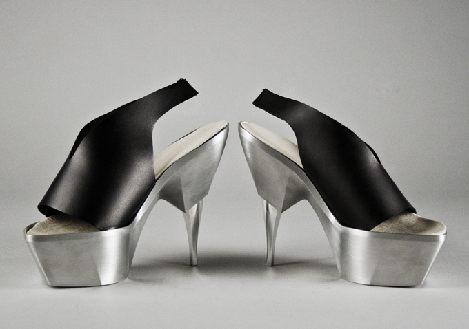 Shoes By Bryan Heavy Metal Series Spinneret Heels Image