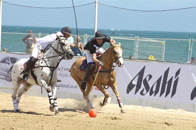 Britains best beach plays host to the 5th Annual Asahi Beach Polo Championships