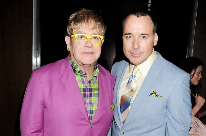 Sir Elton John and David Furnish Celebrate Burberry As Part Of First London Collections: Men Image