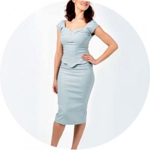 The Revival Retro Boutique The-Dove-Dress-Grey Image