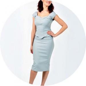 The Revival Retro Boutique The-Dove-Dress-Grey Image