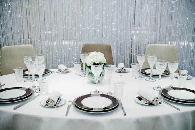 Alain Ducasse at The Dorchester table spread