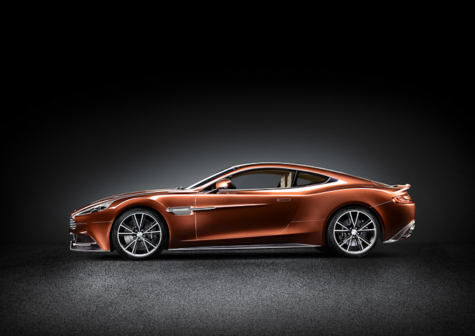 Aston Martin Vanquish leftside exterior view