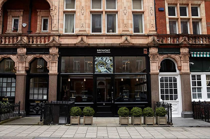 Bremont South Audley Street Mayfair - Boutique launch party outside image