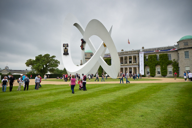 Goodwood Festival of Speed 2012 Lotus Elan 50th Anniversary Sculpture