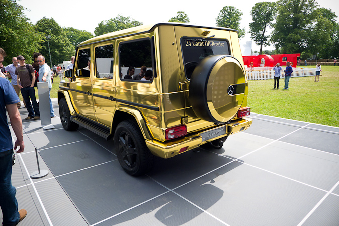 Goodwood Festival of Speed 2012 24 Carat Gold G-wagon