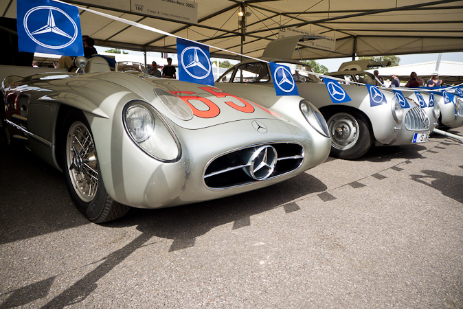 Goodwood Festival of Speed 2012 Mercedes Le Mans cars