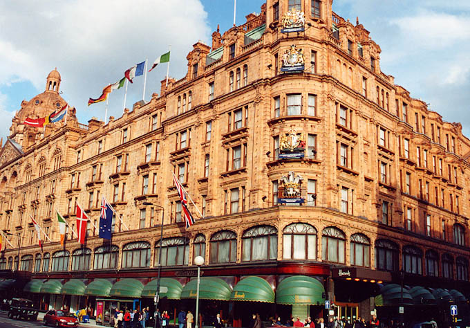 a picture of the exterior of Harrods
