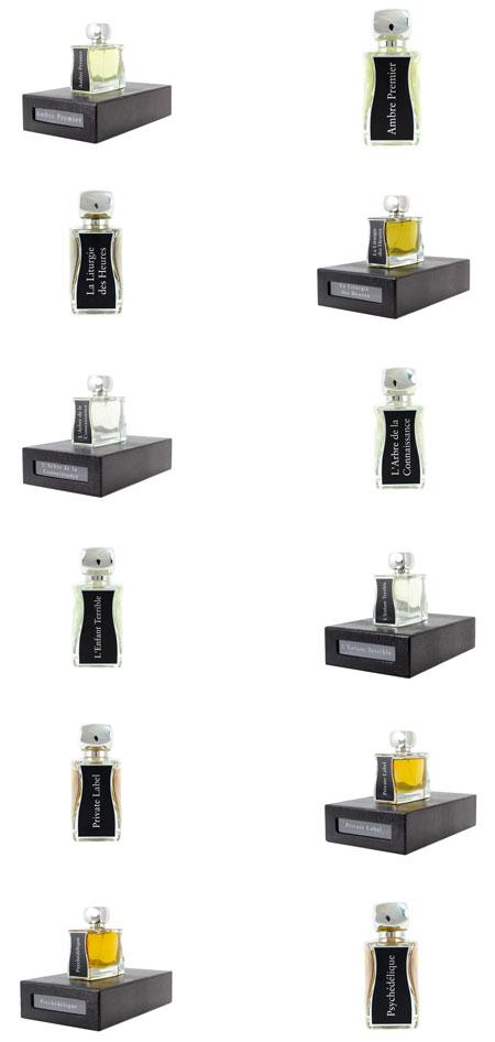 complete JOVOY Paris Perfume range