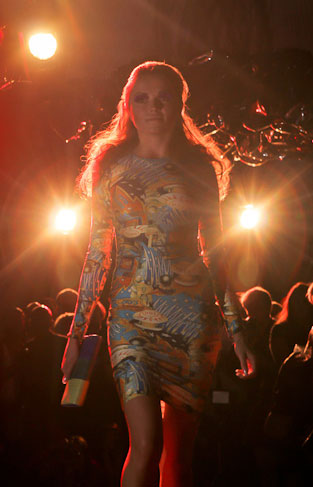 London Fashion Week catwalk show at The Collection for FashionTV
