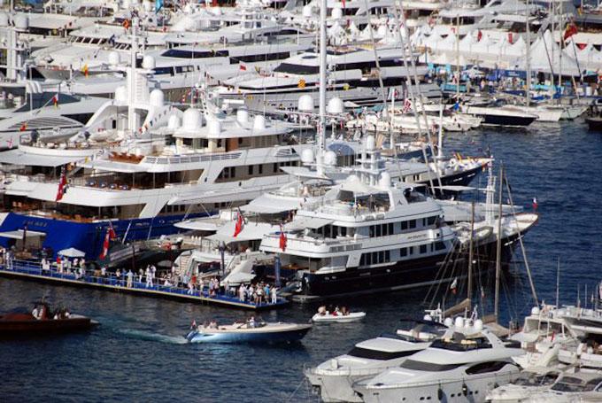 Monaco Boat Show 2012 superyachts in Port Hercules